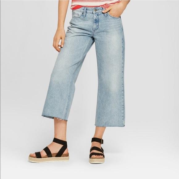 b30f2b3d79d Universal Thread High Rise Wide Leg Crop Jeans 8
